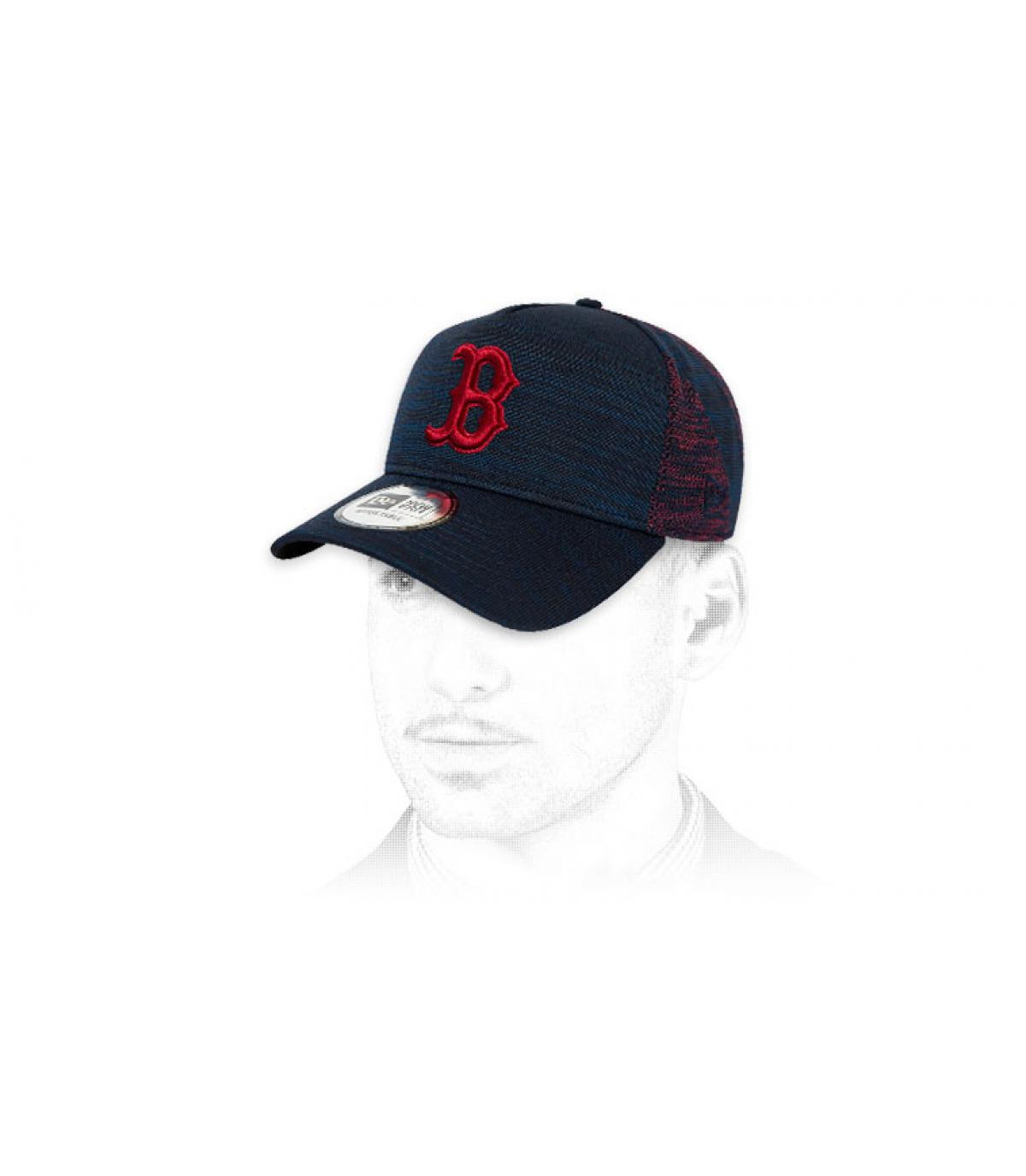 Cap  B blau rot
