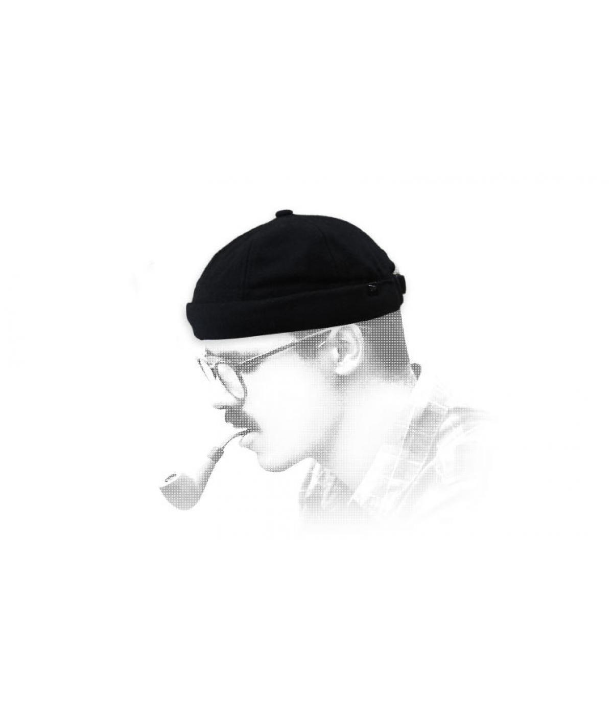 Docker Mütze schwarz laine New Era