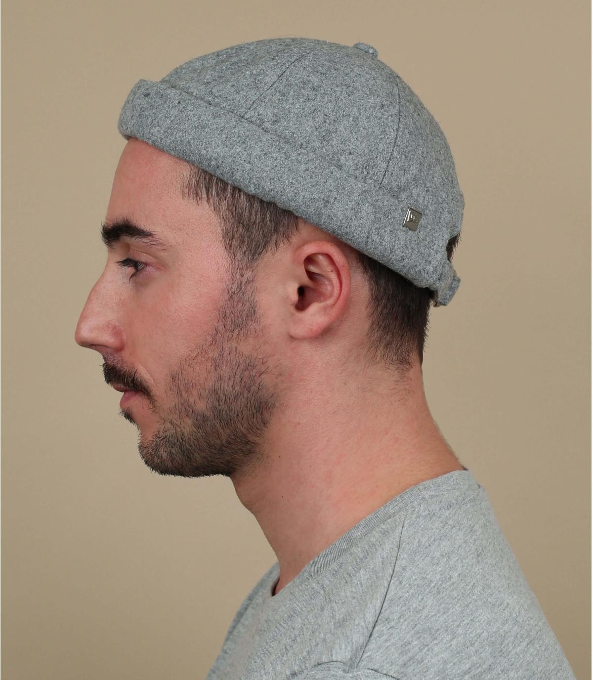Docker Mütze grau Wolle New Era
