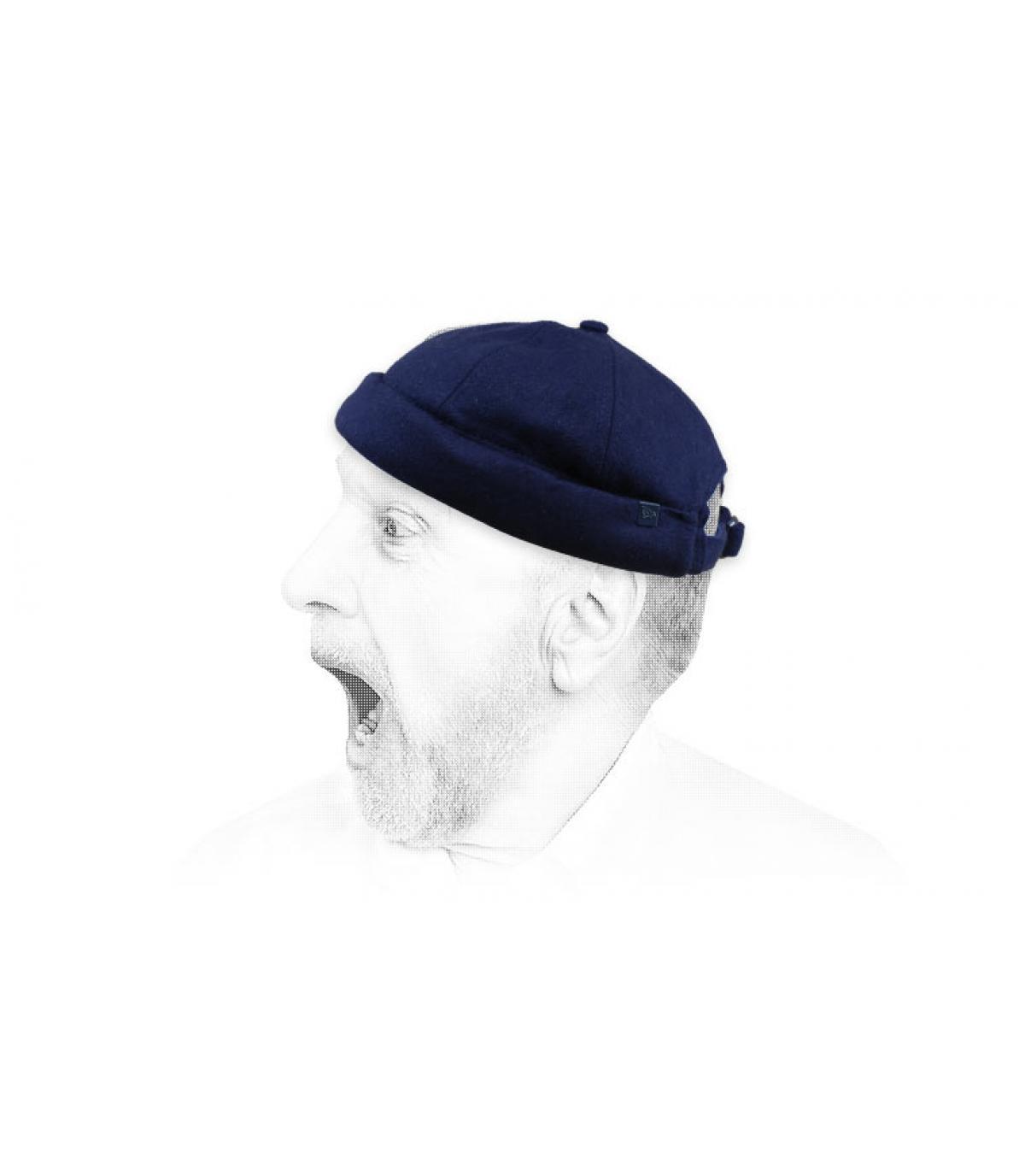 Docker Mütze blau Wolle New Era
