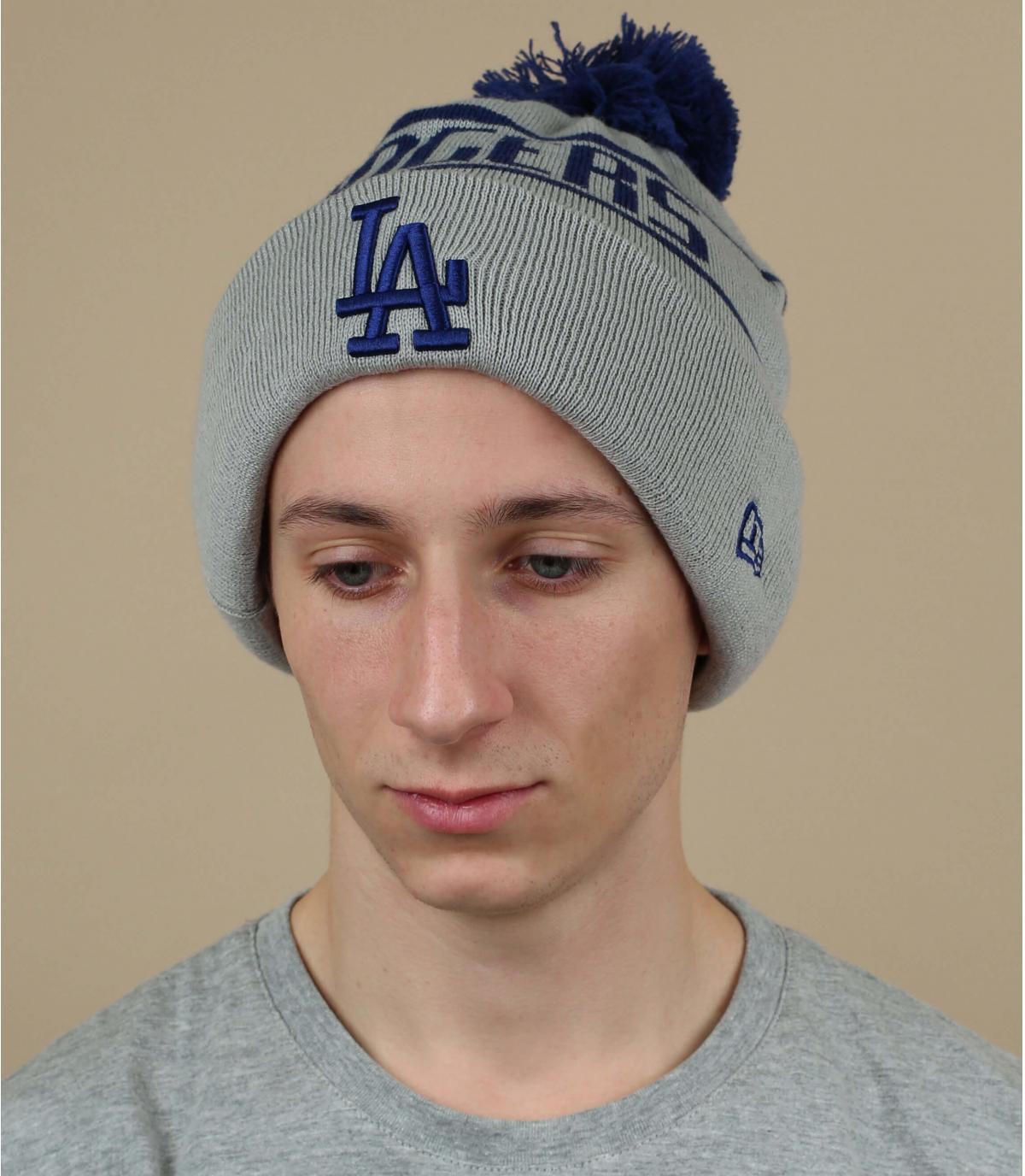 Bommel Mütze Dodgers grau