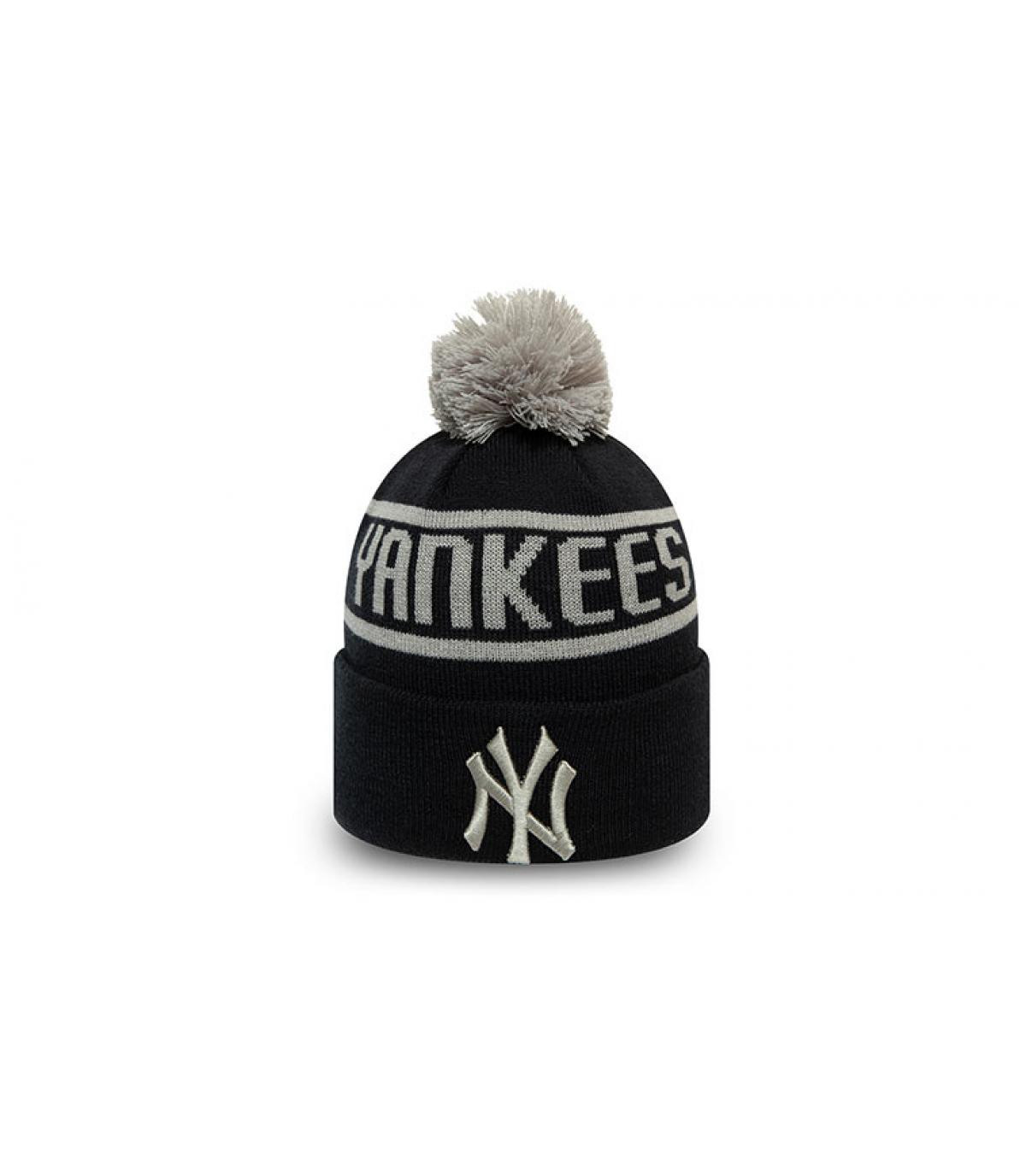 Bommel Mütze Yankees blau
