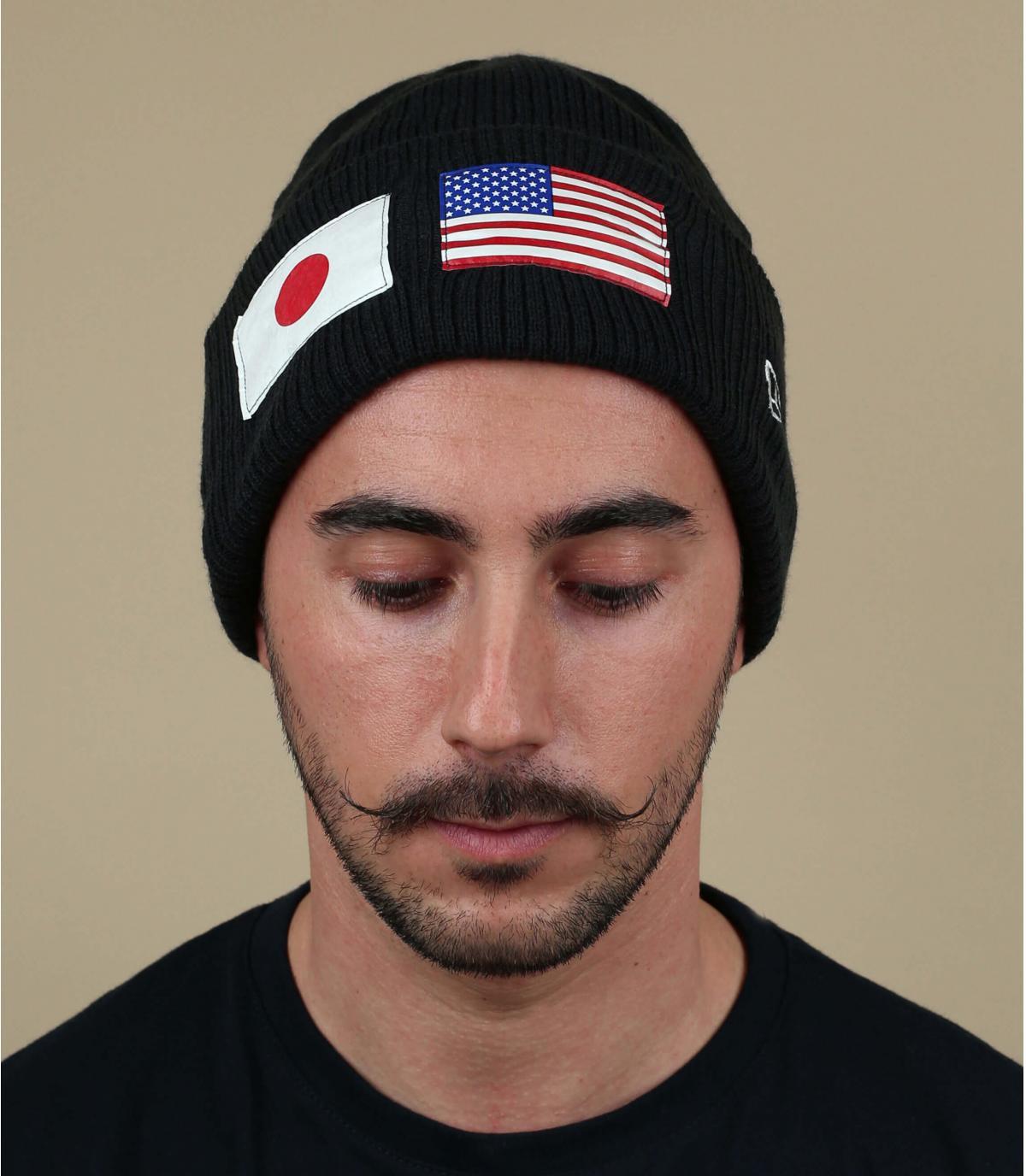 Mütze schwarz US Flagge