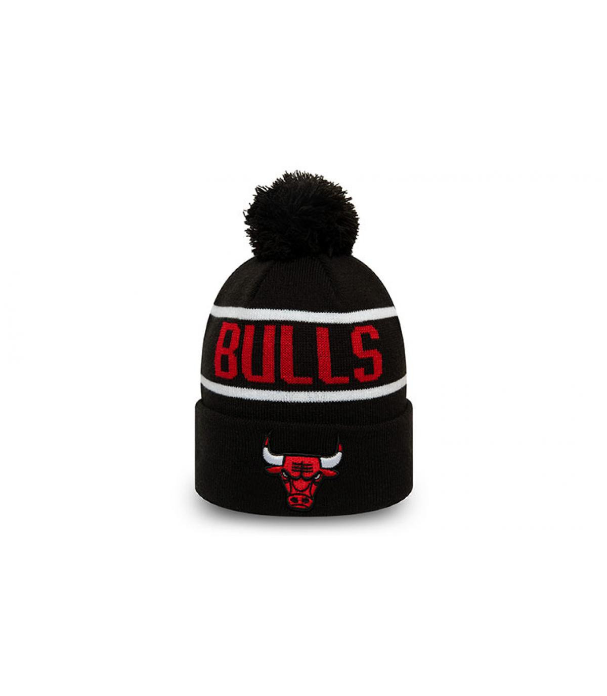 Kindermütze Bulls schwarz