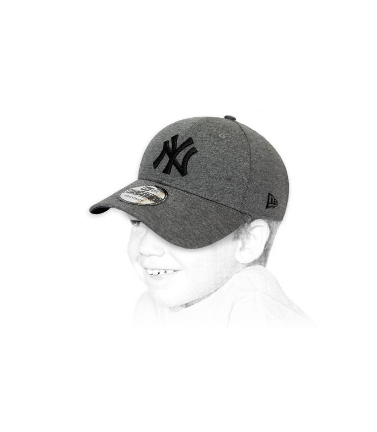 Kinder Cap NY grau
