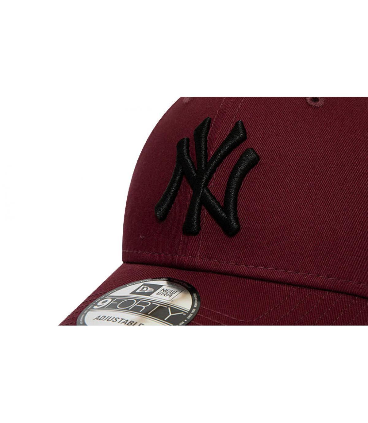 Details Cap Kids League Ess NY 940 maroon black - Abbildung 3