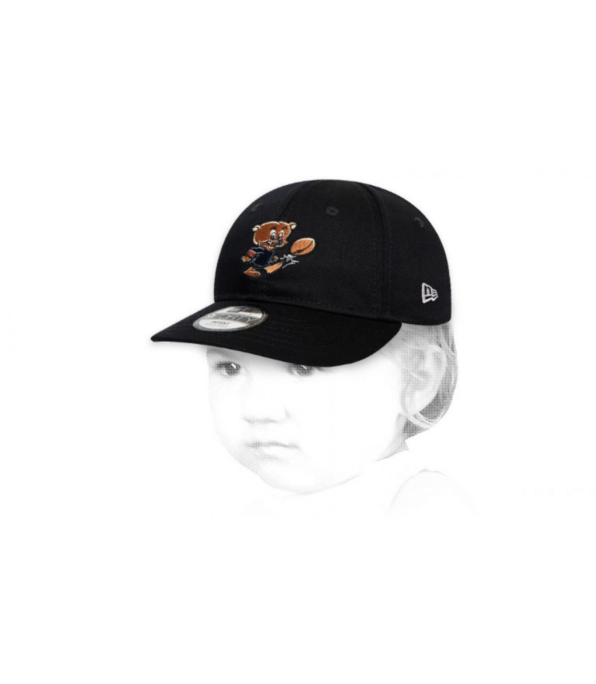 Baby Cap Bears schwarz