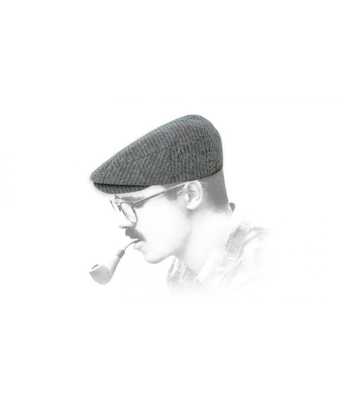 Flatcap grau Baumwolle Brixton