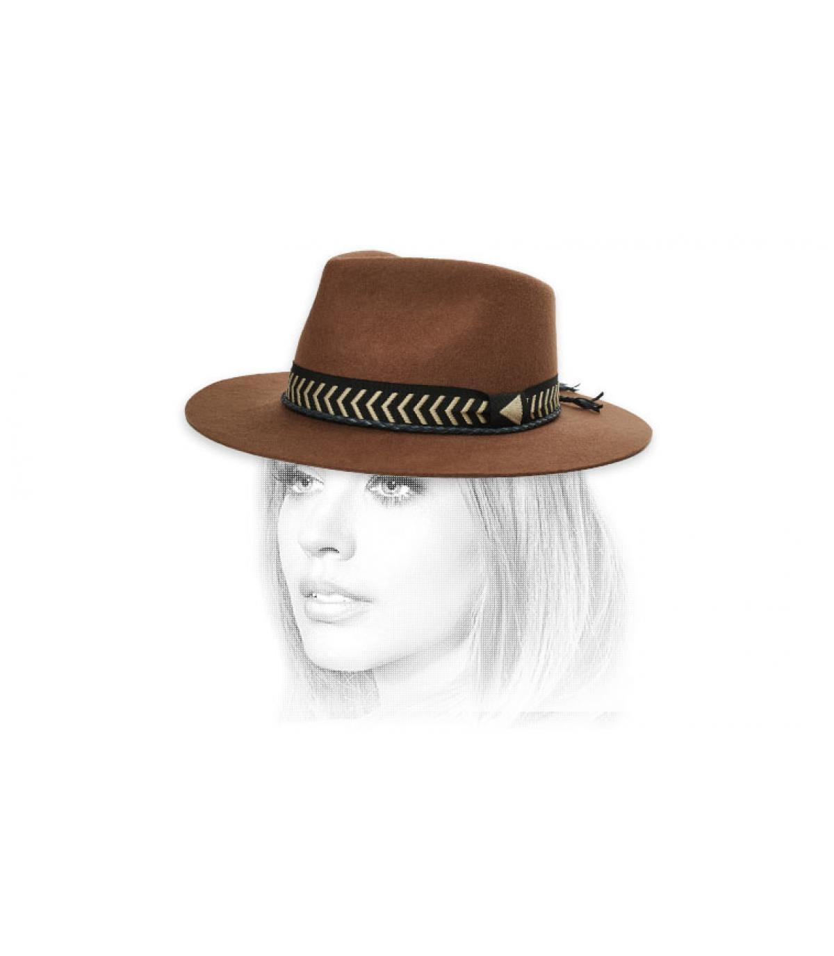Filzhut Hutband geflochten
