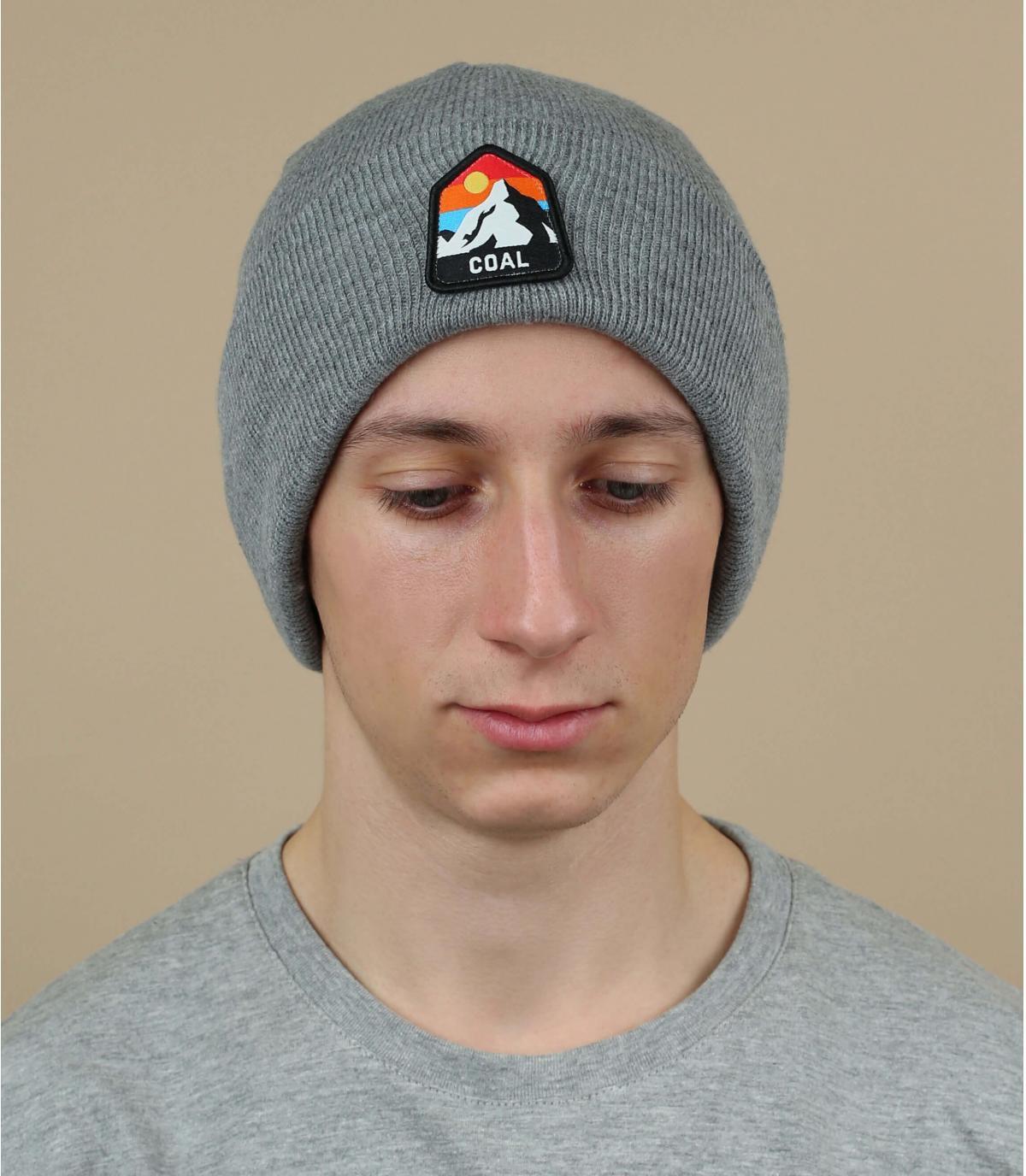 Mütze Rand grau Coal