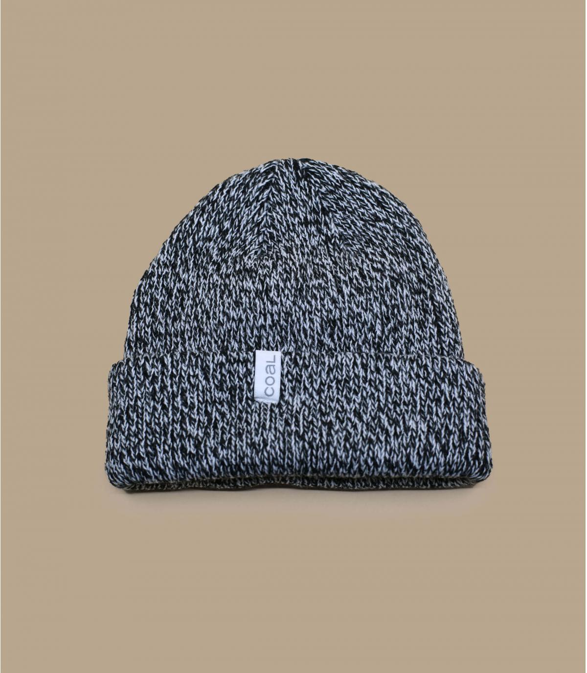 Mütze Rand schwarz meliert Coal
