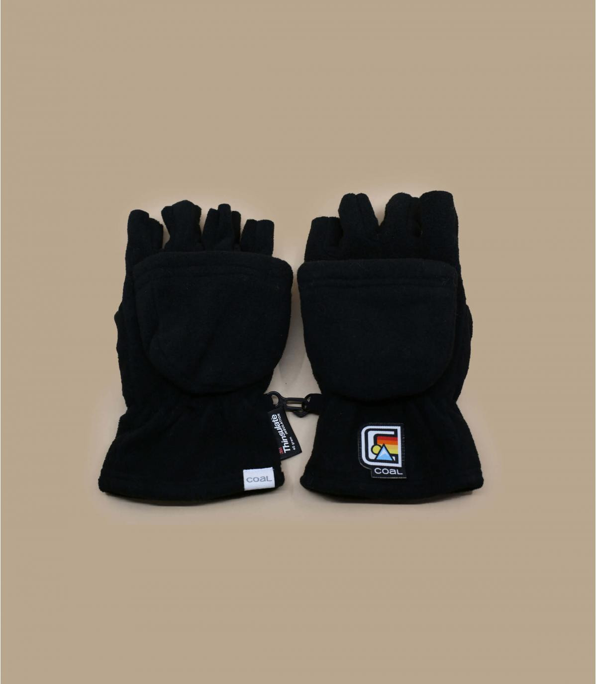 Handschuh Halbfingerhandschuh schwarz Coal