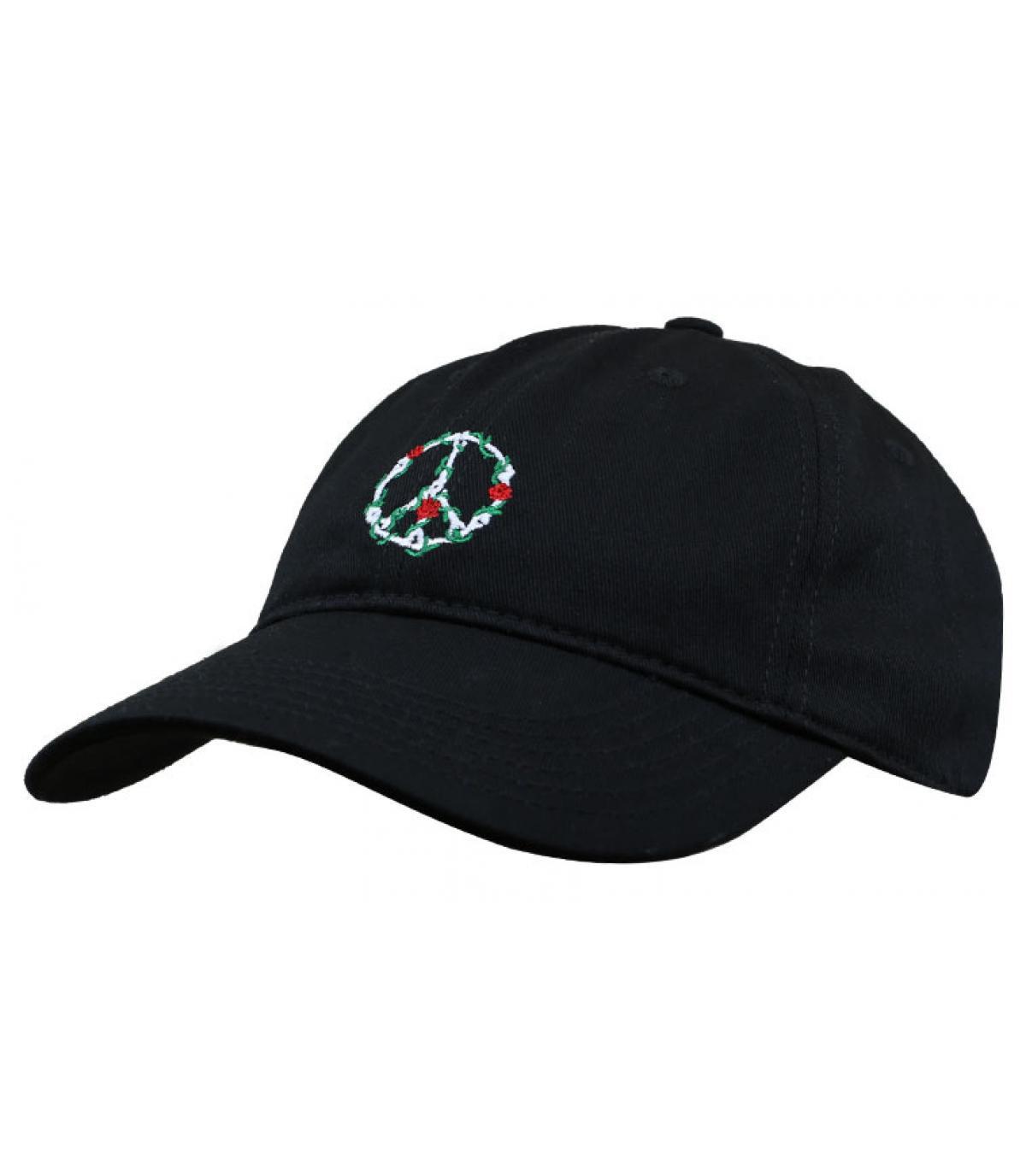Cap peace schwarz