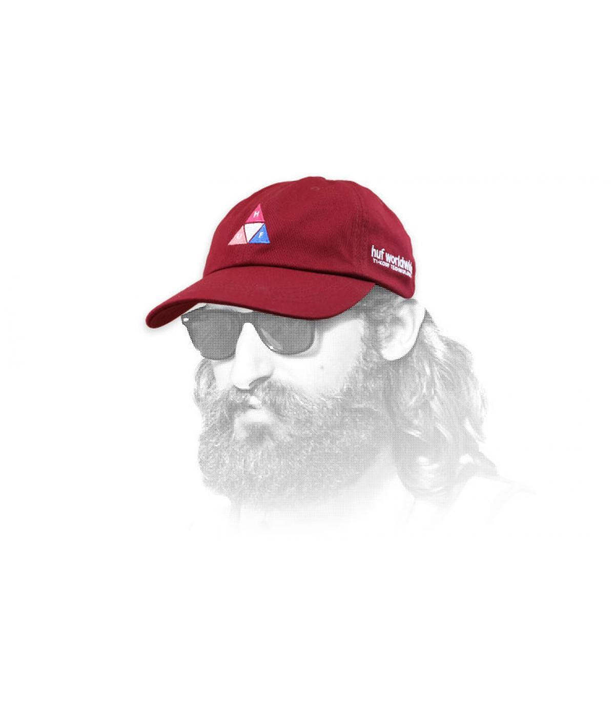 Huf Cap Dreieck Logo bordeaux