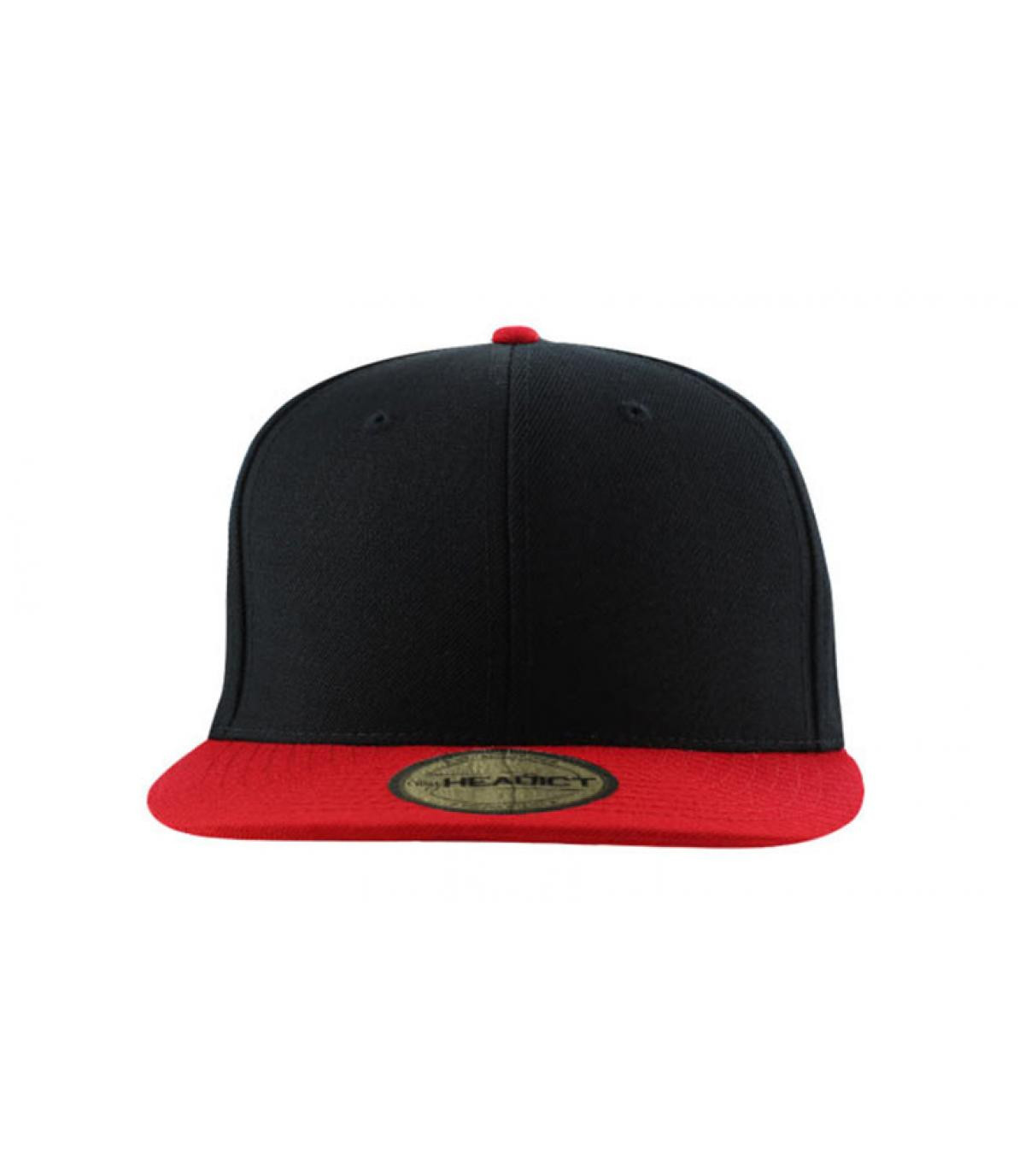 Black and red snapback for kids