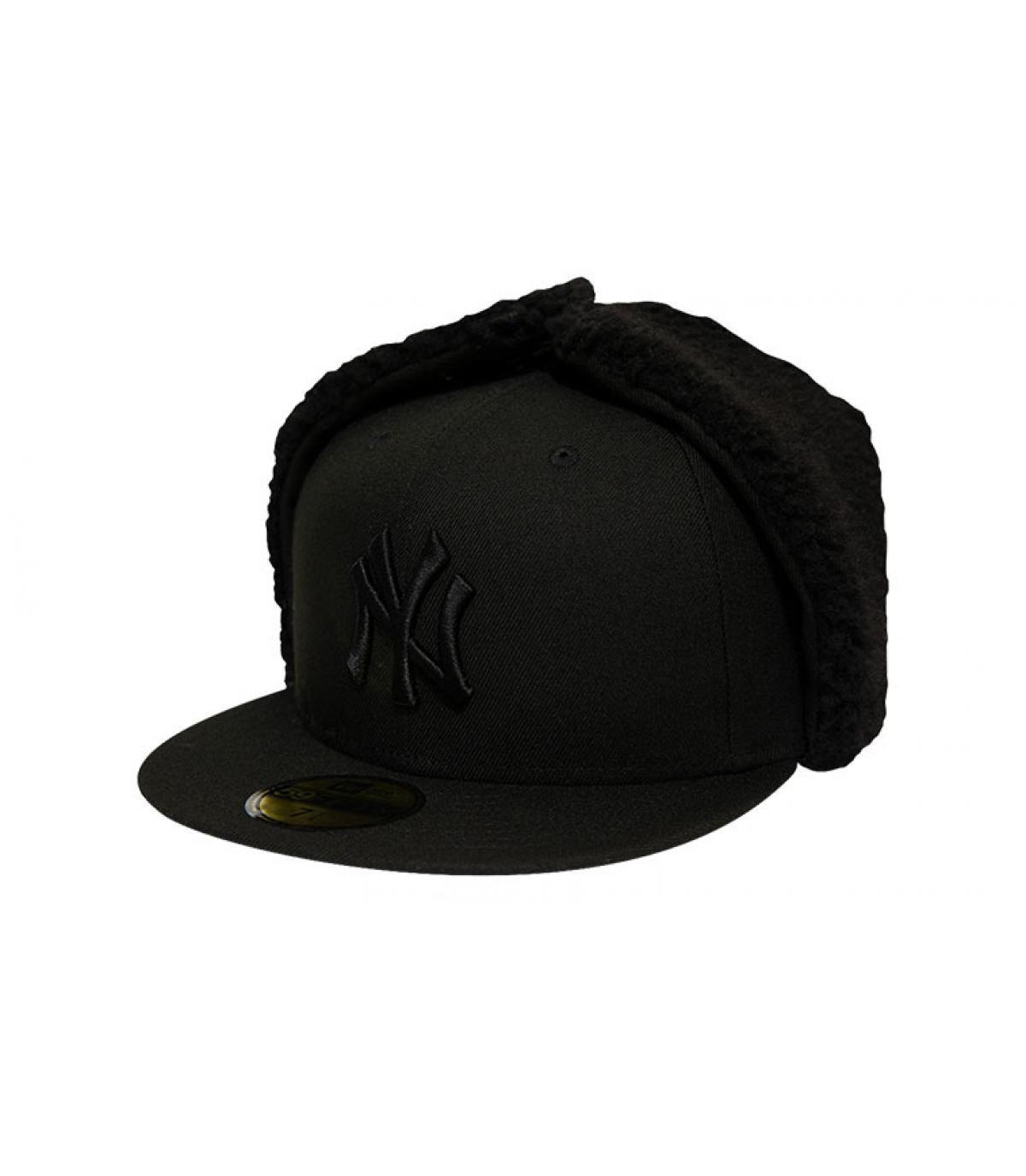 Cap NY Ohrschützer schwarz