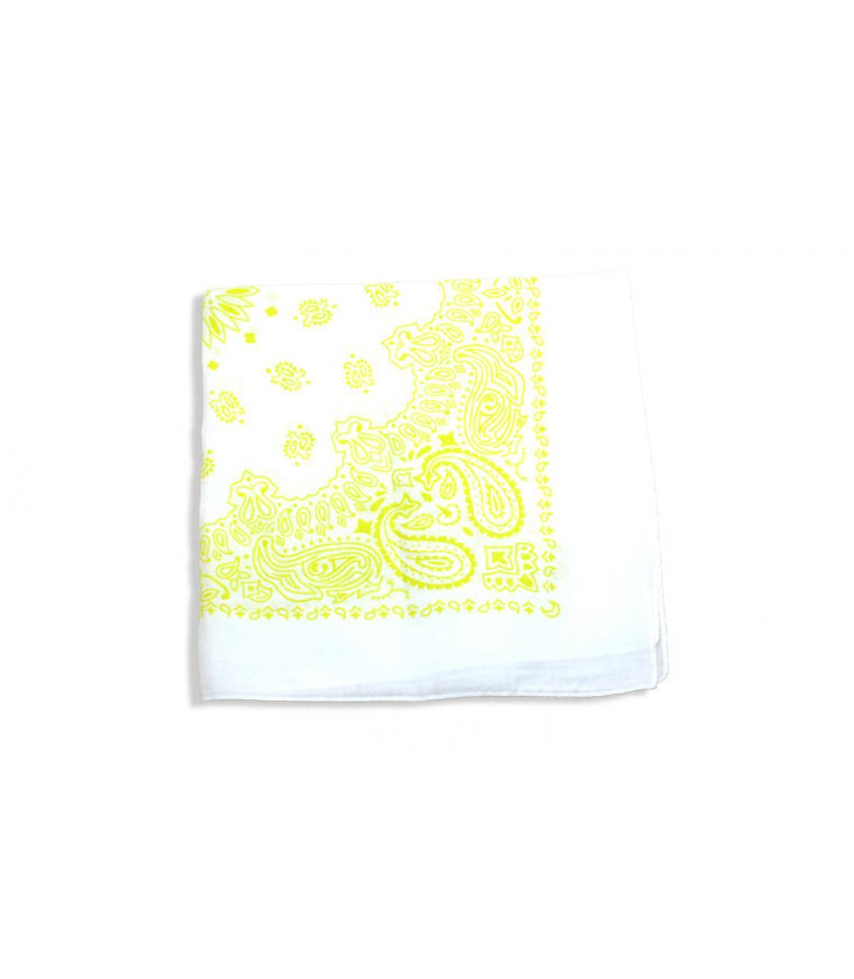 Bandana weiß und gelb