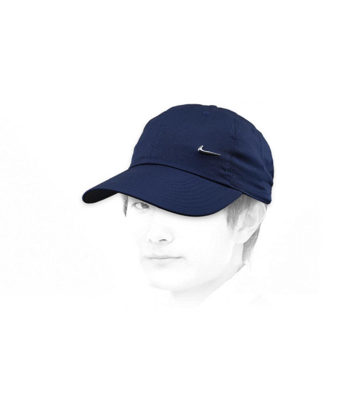 Marineblaue Nike Cap