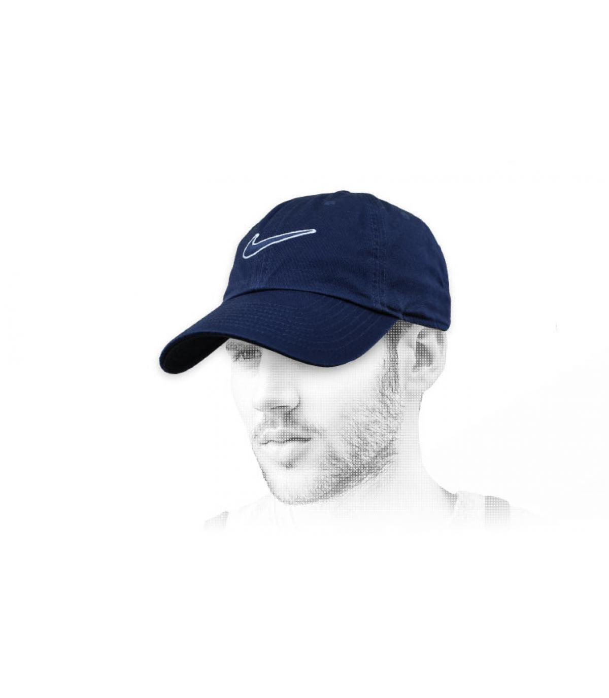 Schwarze Nike Cap swoosh