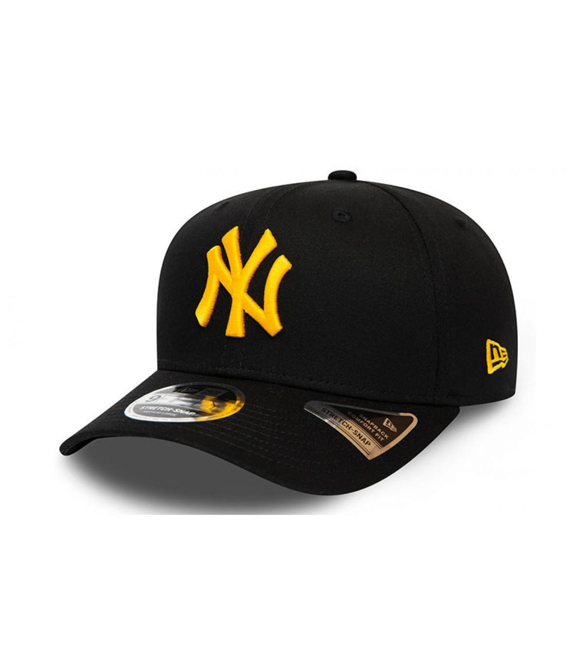 NY Cap schwarz gelb