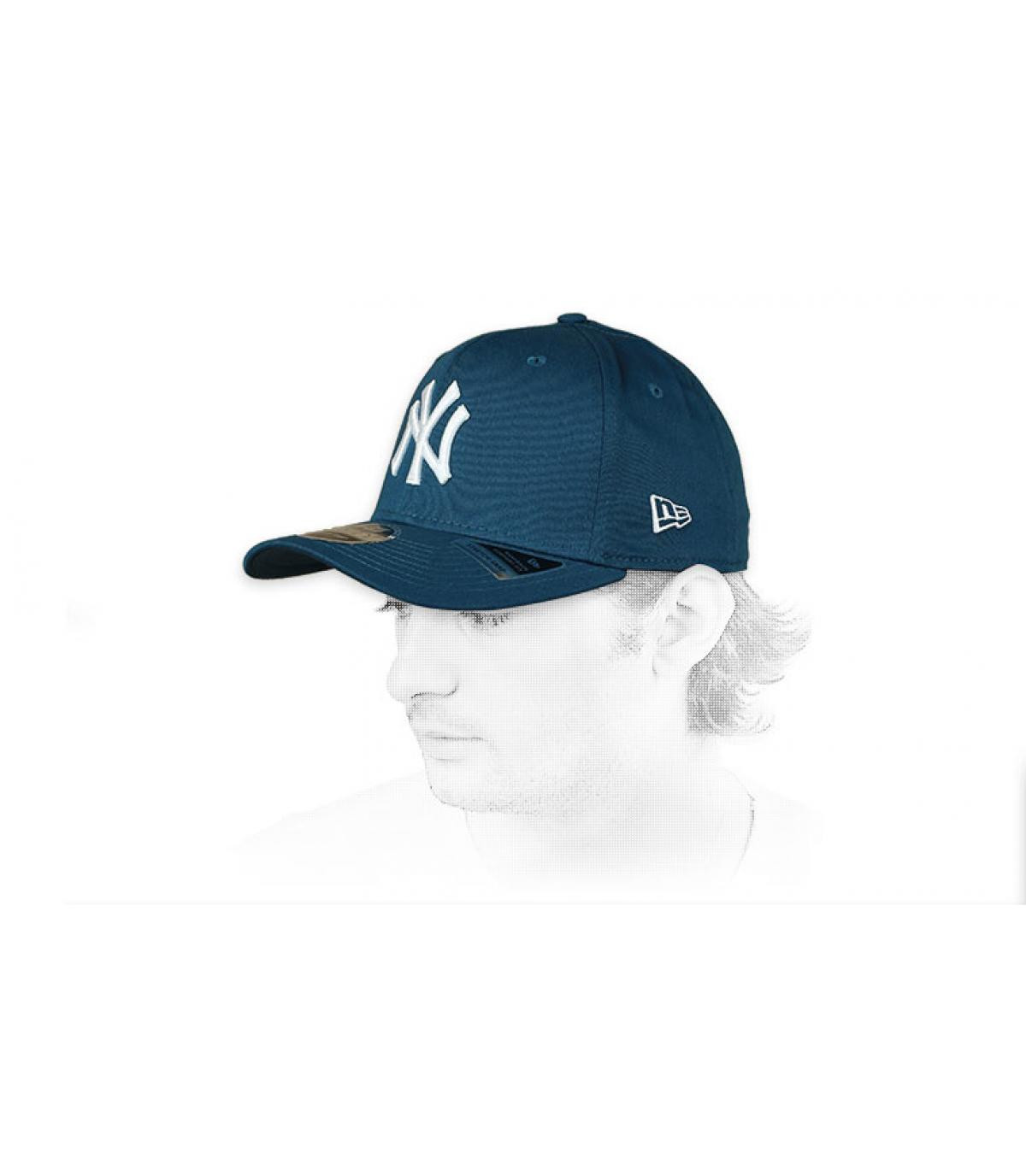 NY Cap  blau weiß