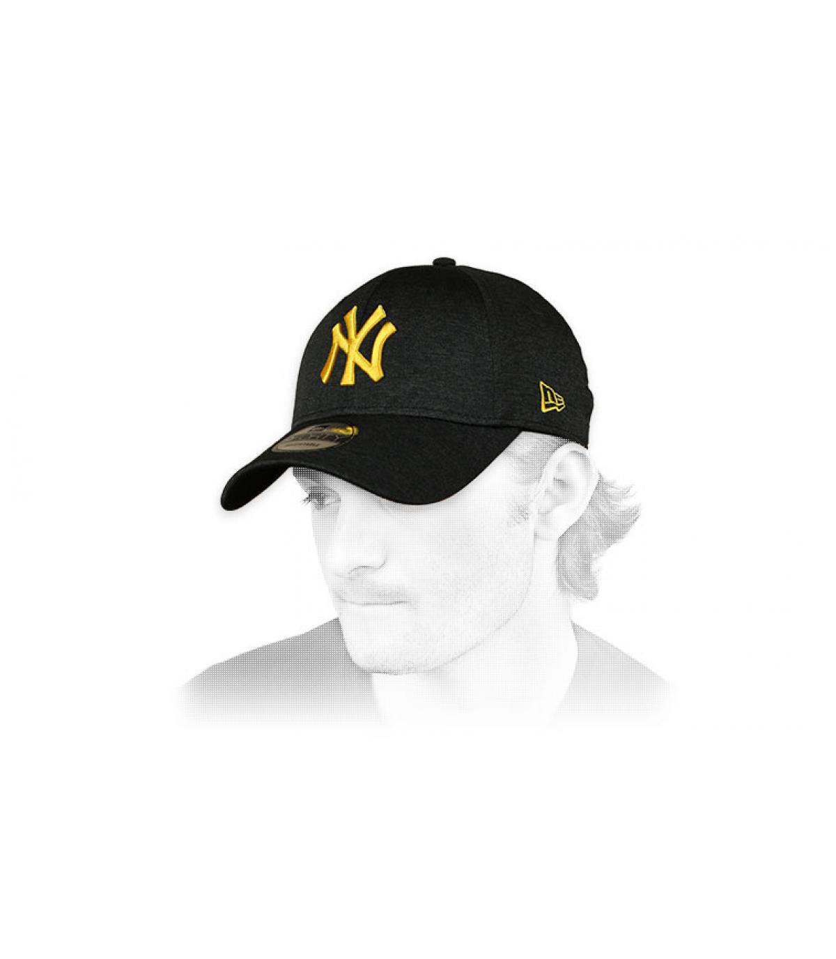 Cap NY schwarz gelb
