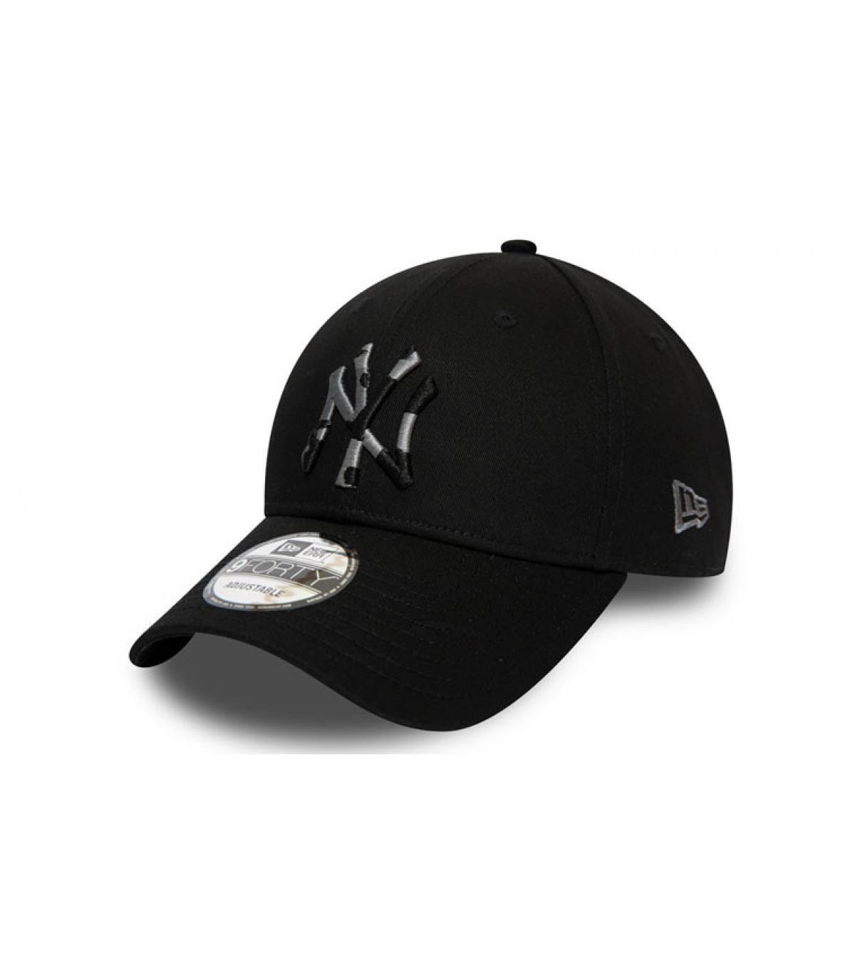 Cap NY schwarz camo