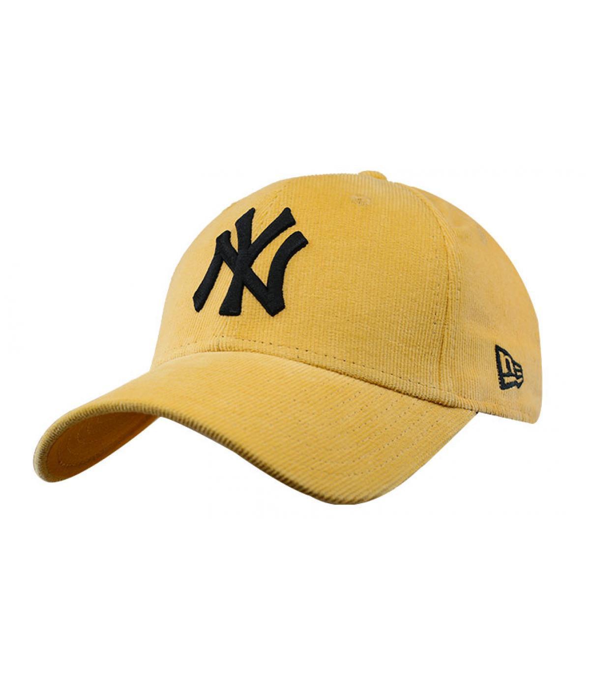 Cap NY  Kordsamt gelb