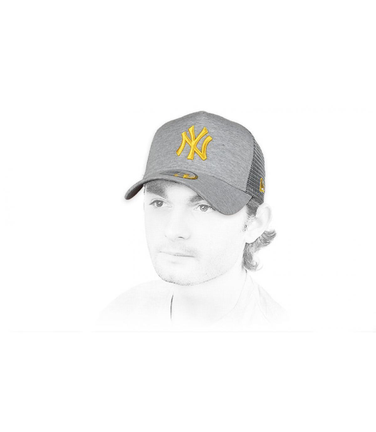 Trucker NY grau gelb