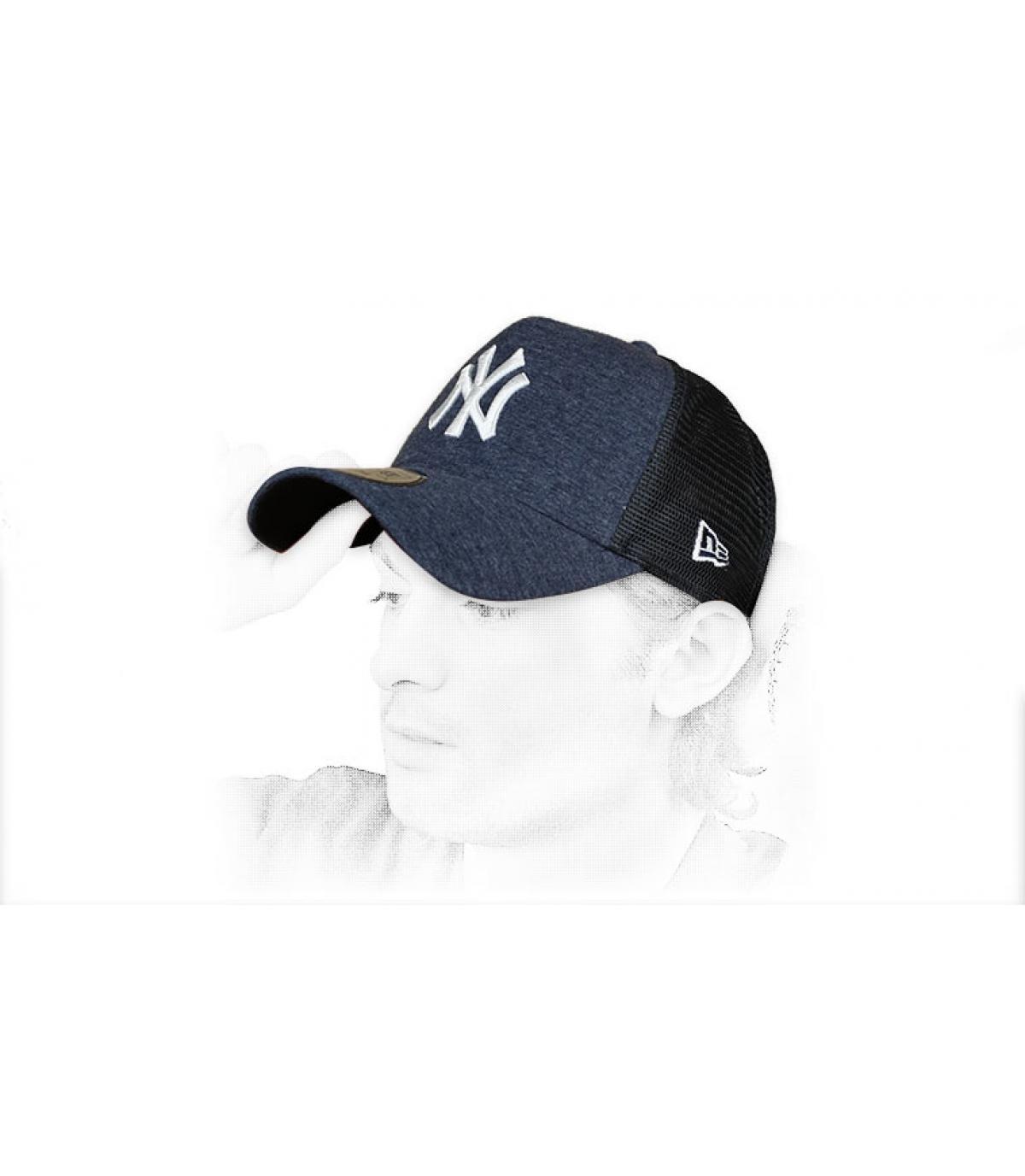 Trucker NY blau weiß