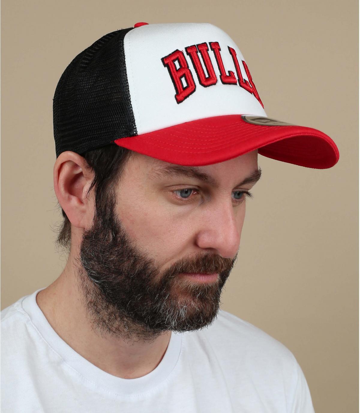 Trucker Bulls weiß rot