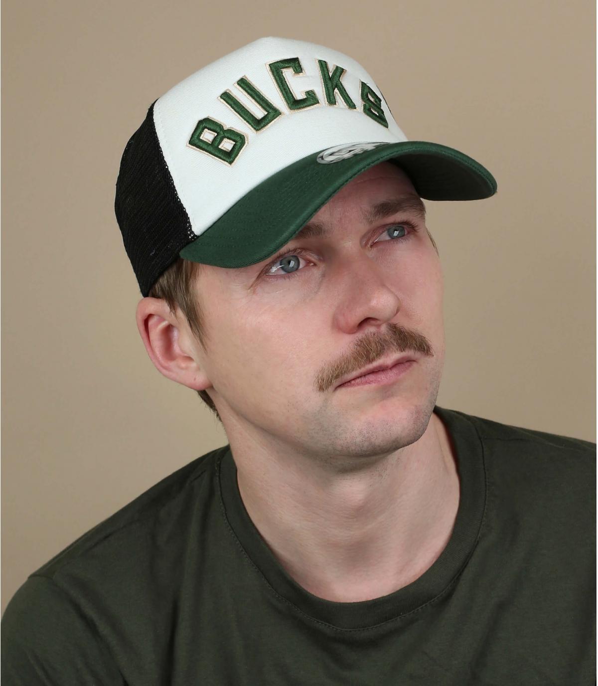 Trucker Bucks weiß grün