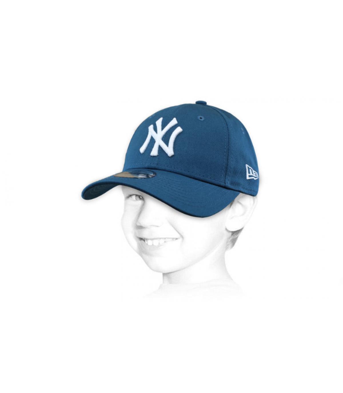 Kinder Cap blau NY