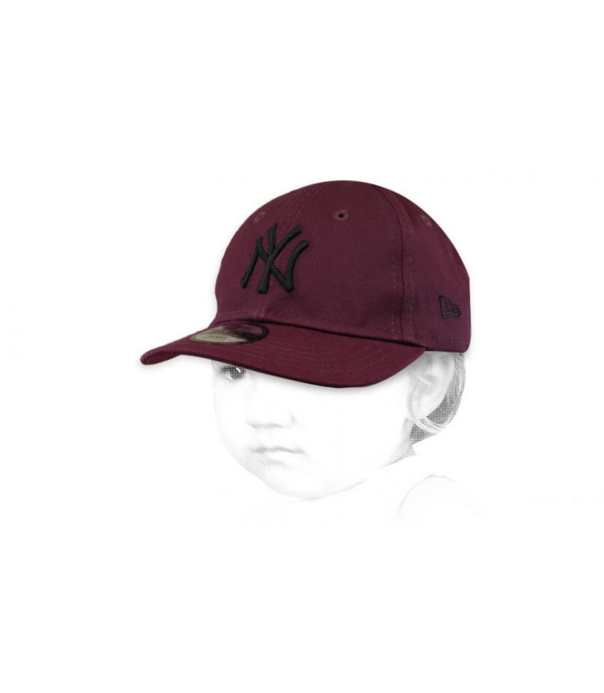 Baby Cap NY bordeaux