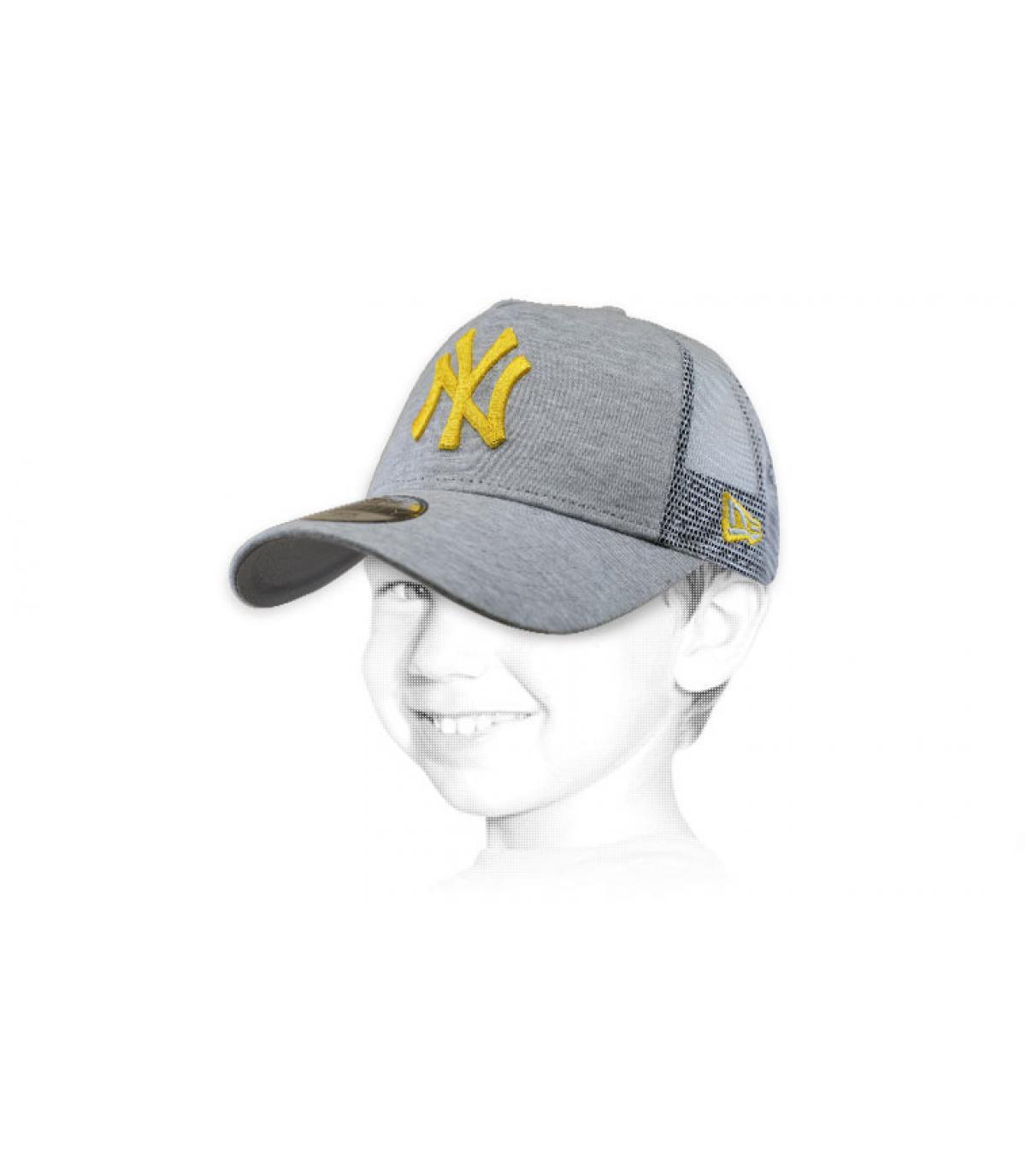 Kinder Trucker NY grau gelb