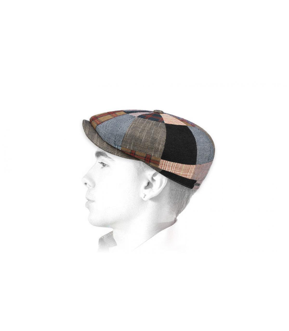 Newsboy Cap Patchwork Leinen