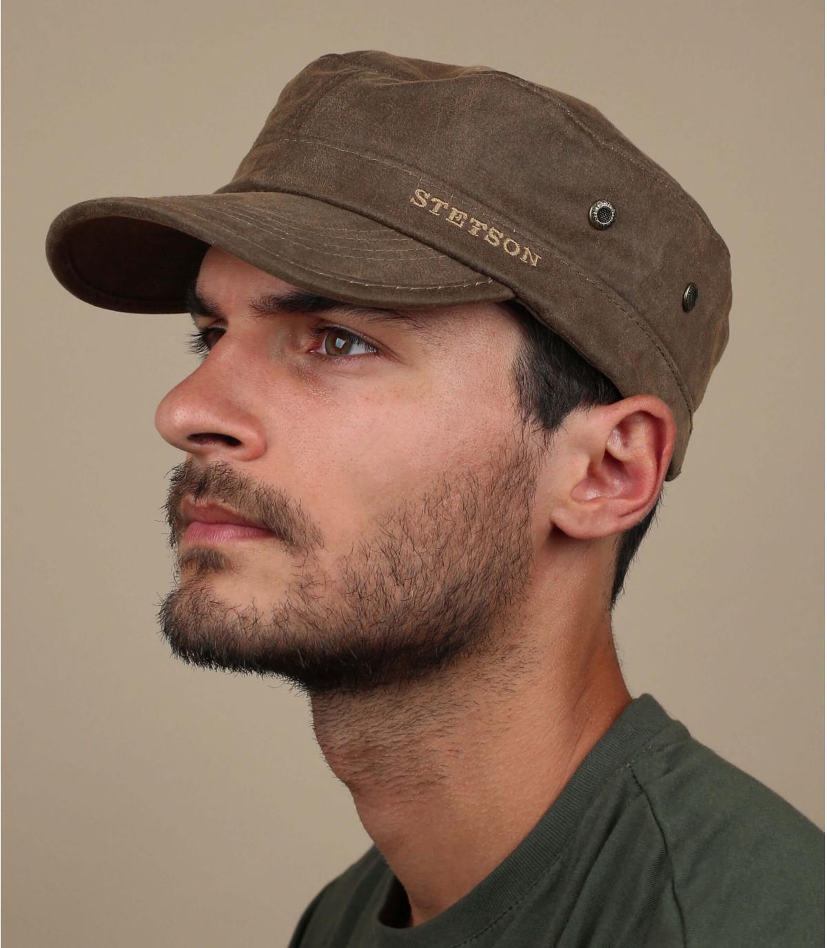 Army Cap Baumwolle braun