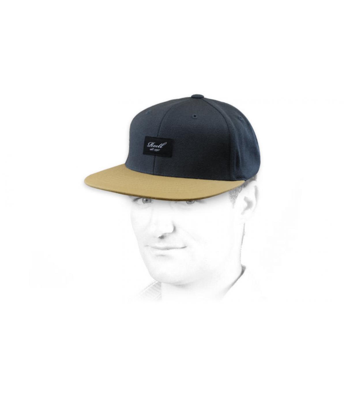 Snapback Reell grau beige