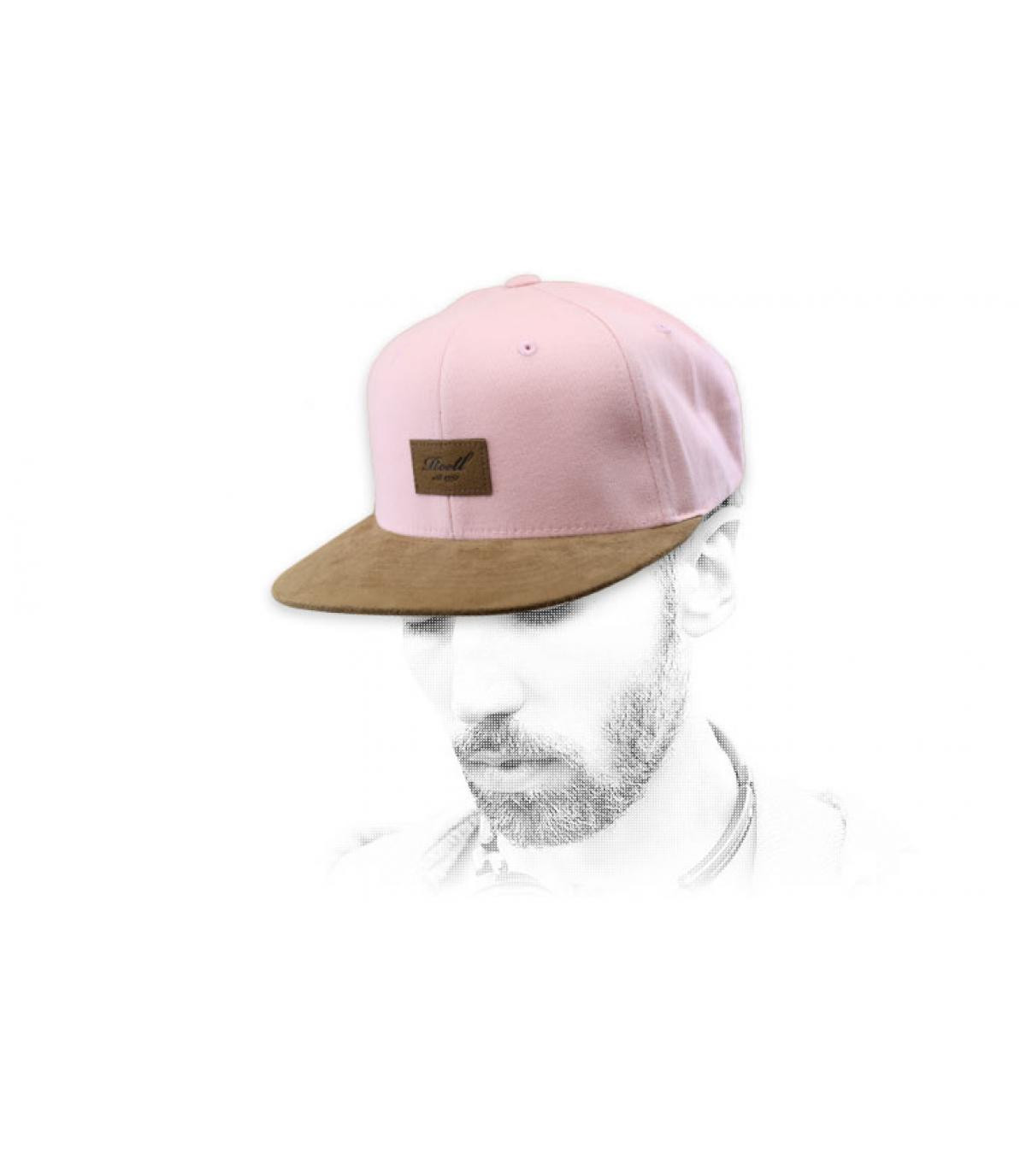 Snapback rosa suede Reell