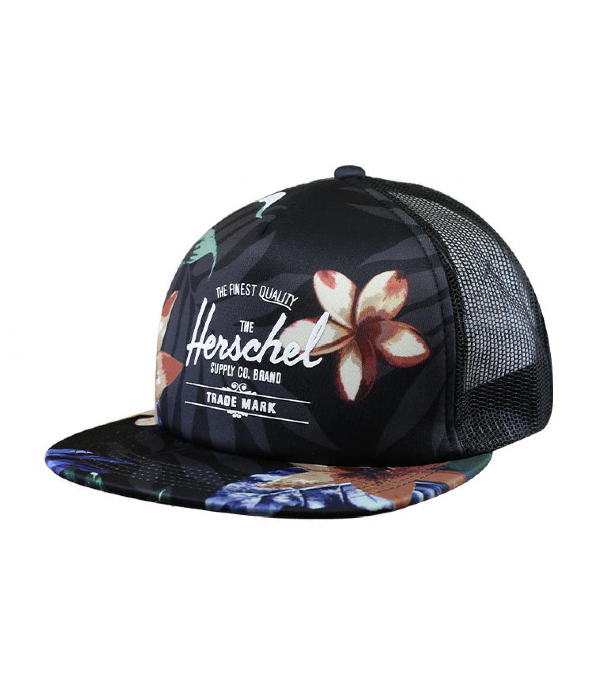 Trucker Herschel bedruckt Blume