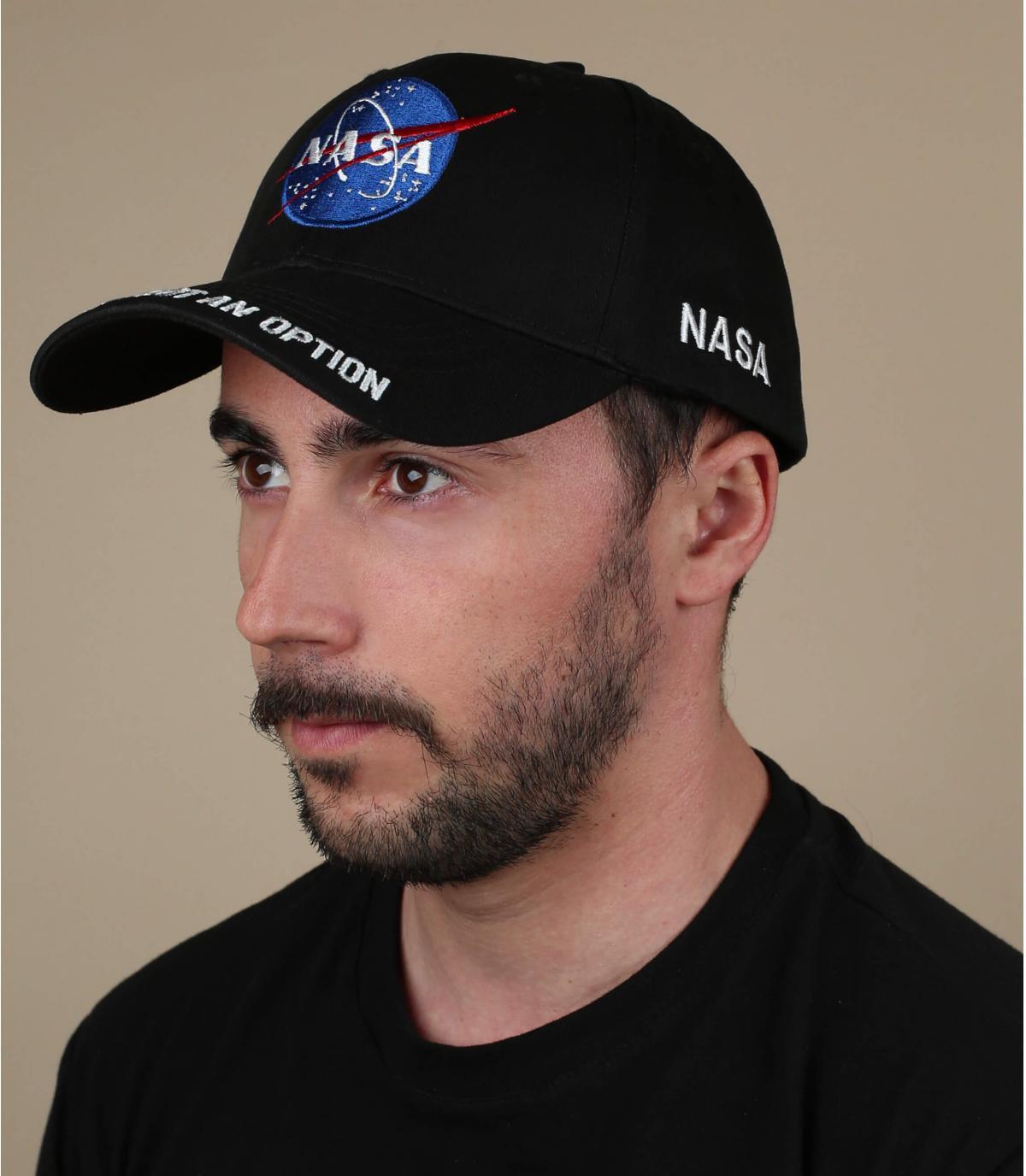 NASA Cap schwarz