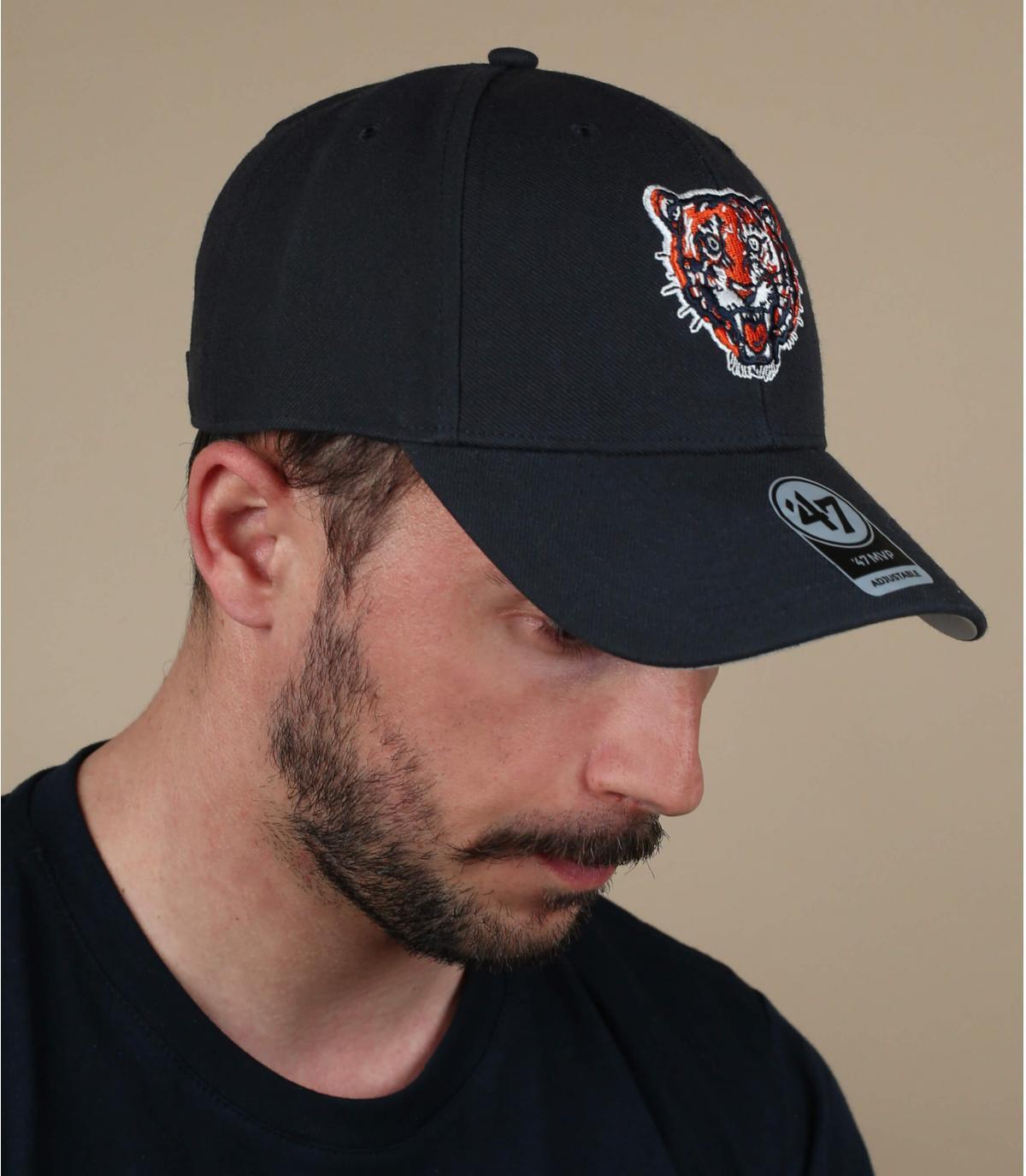 Cap Tiger schwarz