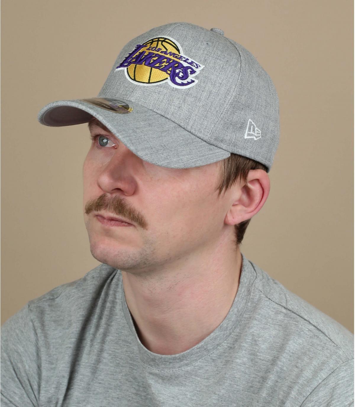 Cap Lakers grau