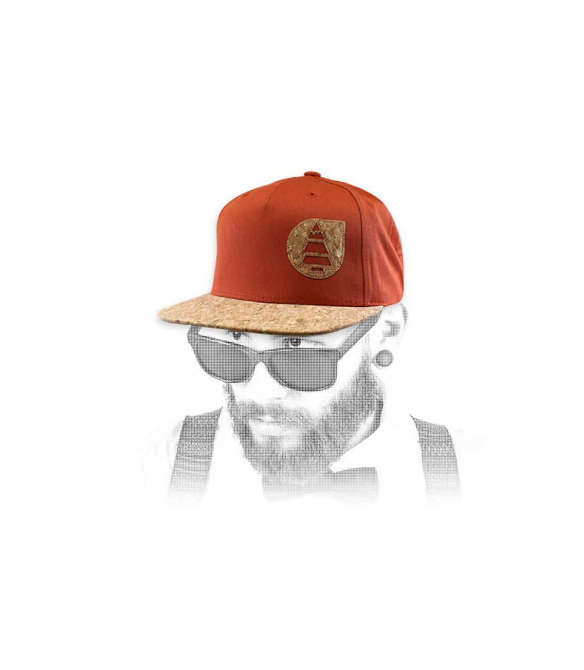 Picture Cap orange Kork