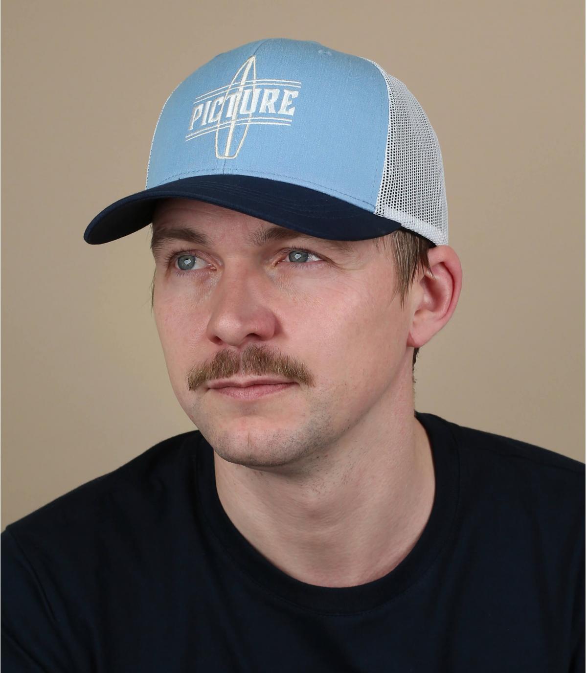 Trucker Picture blau