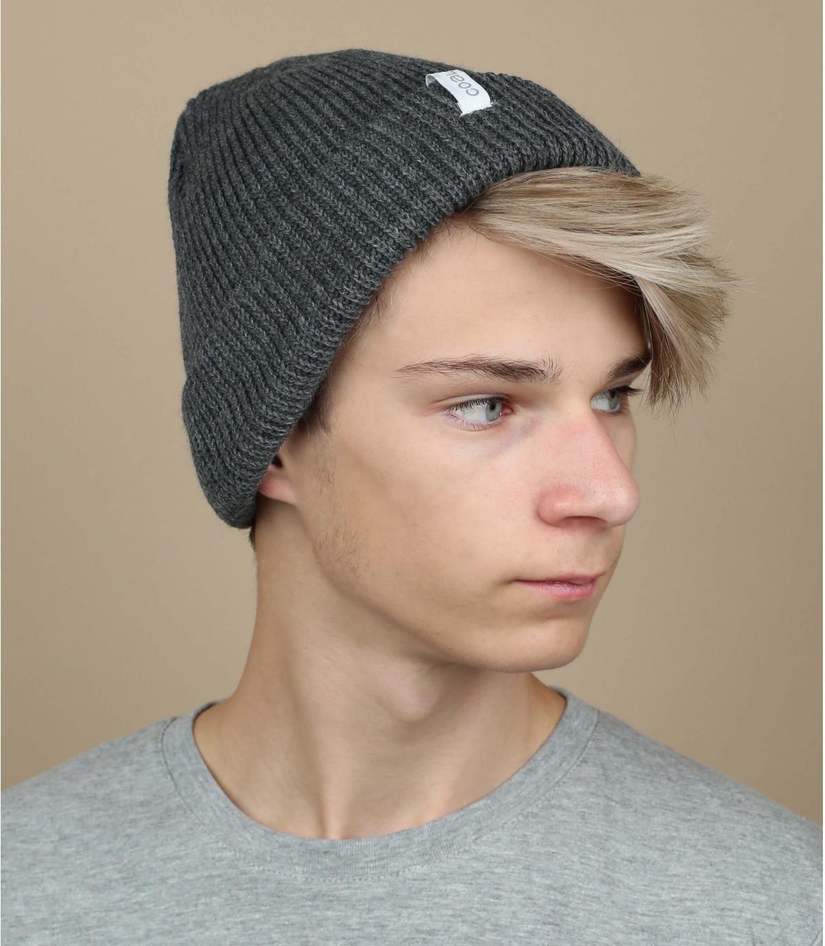 Mütze uni grau