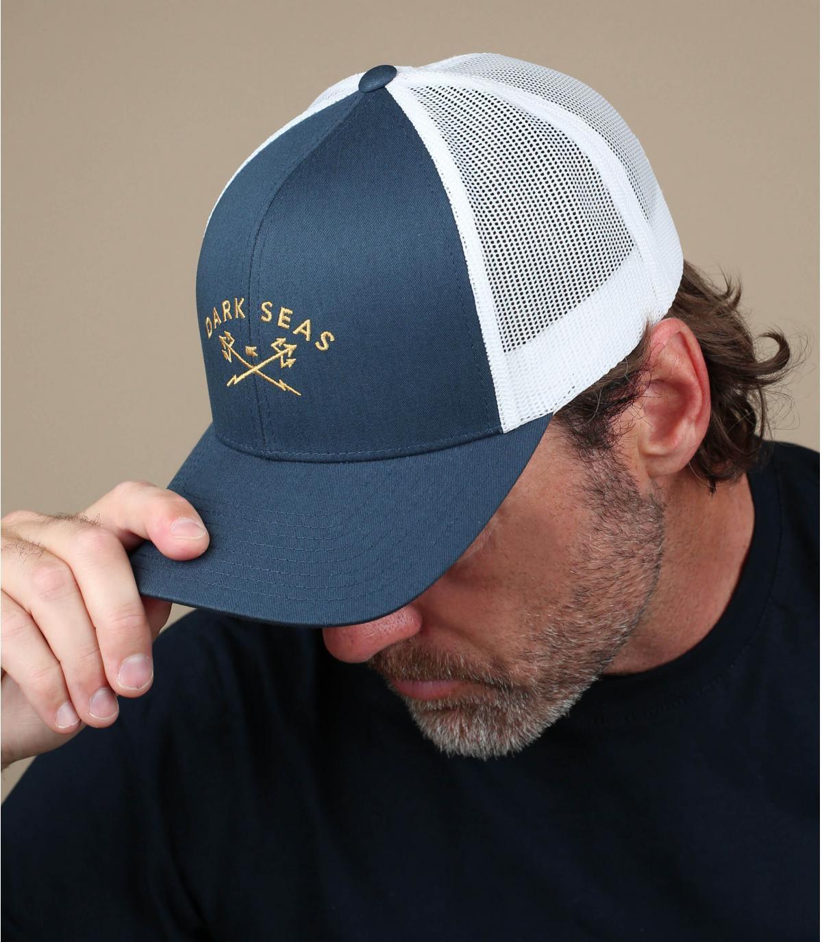 Curved Cap marineblau Anker