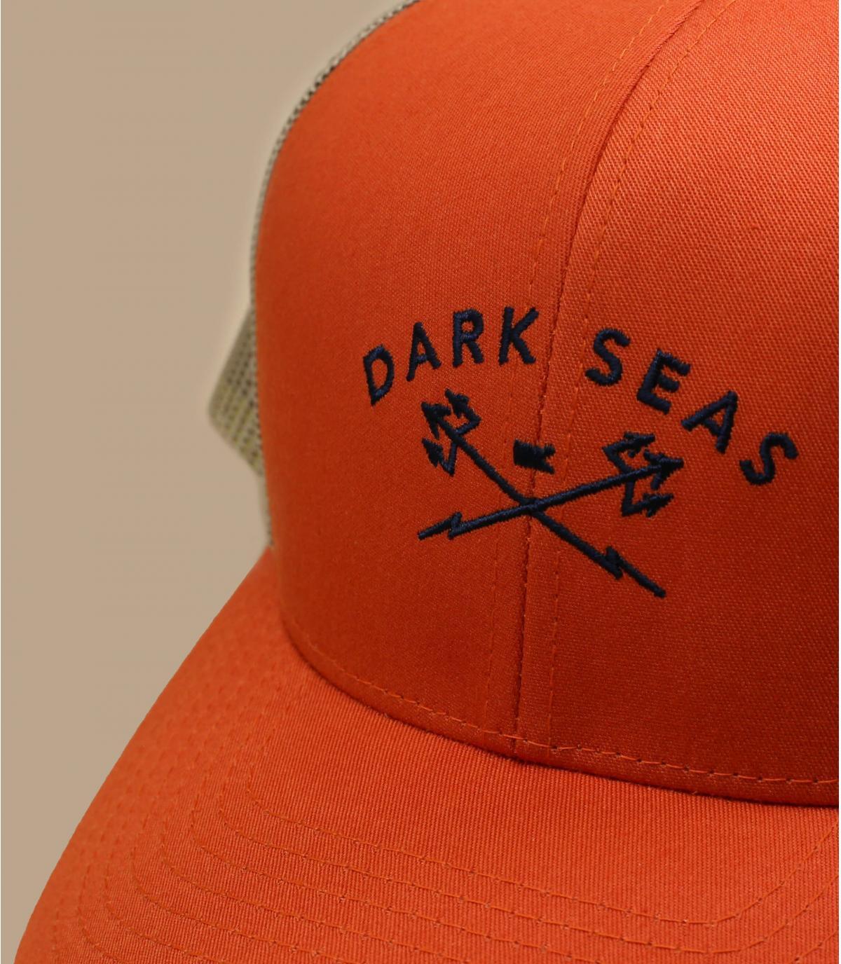 Trucker Dark Seas orange grün
