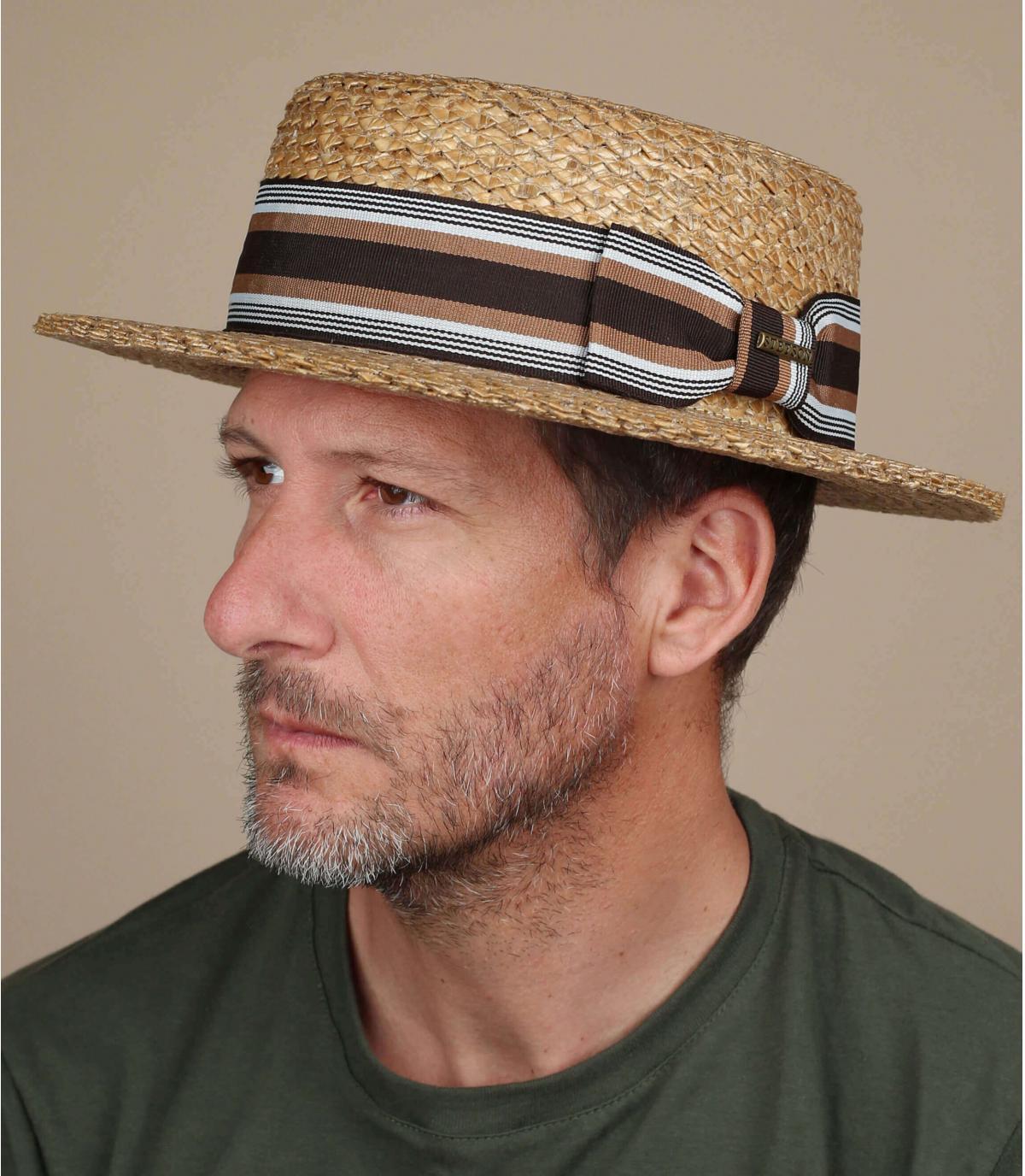 Boater Kreissäge Hutband gestreift