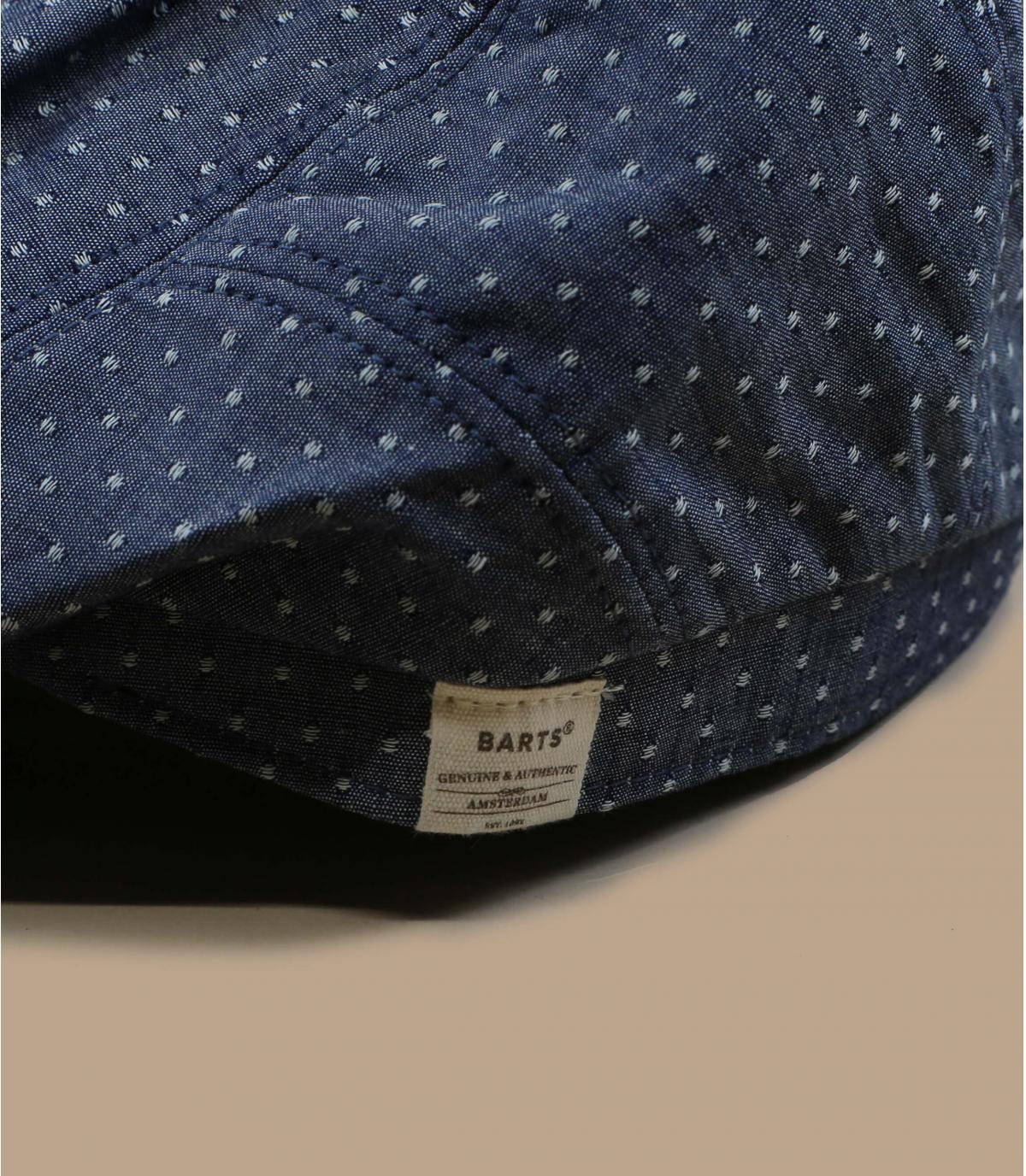 Flatcap Denim Baumwolle Leinen